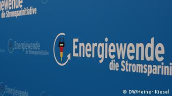 Logo des Bundesumweltministeriums für die Energiewende (Foto: Heiner Kiesel/DW)