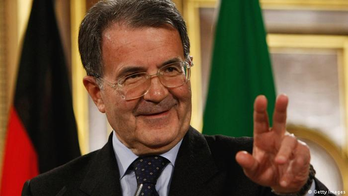 Italian Prime Minister Romano Prodi addresses the media during a press conference for the European Union Summit at the Foreign Office on January 29, 2008 in London, England. Photo: Daniel Berehulak/Getty Images