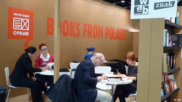 Polskie stoisko na Targach Książki we Frankfurcie nad Menem (zdjęcie archiwalne)