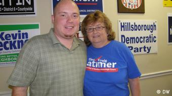 Chris Mitchell, chairman Hillsborough County Democrats, and Sally Phillips, head of LGBT caucus