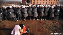 China Zwangsräumung Abriss Haus Illegal Bau