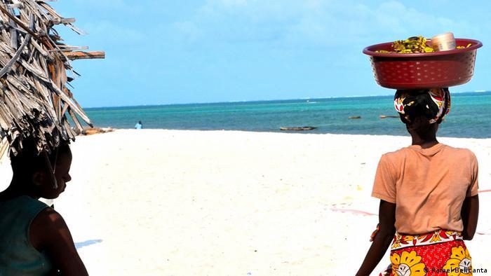 African women on a beach