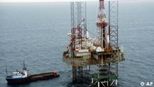 Nigeria Ölplattform vor der Küste