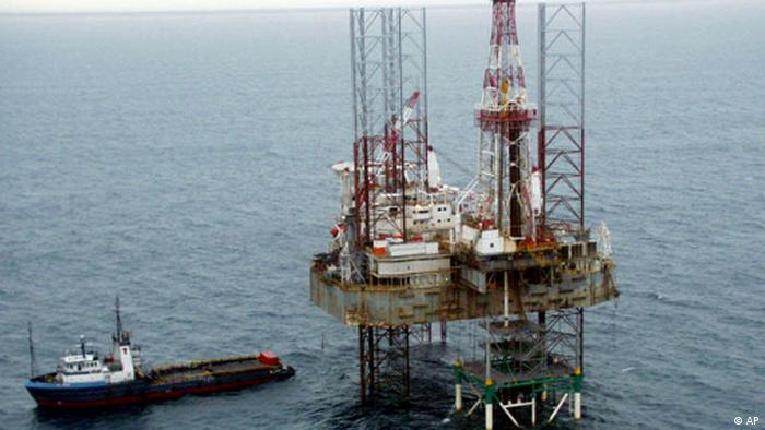 An oil rig in the Niger Delta, Nigeria