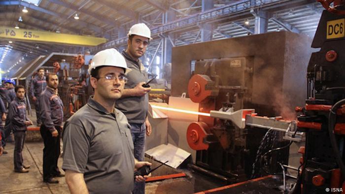 Iran Land und Leute Stahlfabrik
