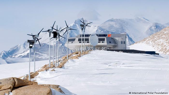 The Belgian Antarctic station Princess Elisabeth Antarctica. (Photo copyright: International Polar Foundation)