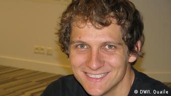 A picture of Reinhard Drews, Antarctic researcher. (Photo copyright: DW/I. Quaile)
