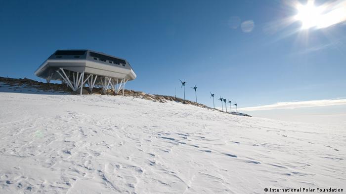 The Belgian Antarctic station Princess Elisabeth Antarctica (Photo copyright: International Polar Foundation)