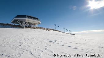 The Belgian Princess Elisabeth Antarctica station. Copyright: International Polar Foundation.