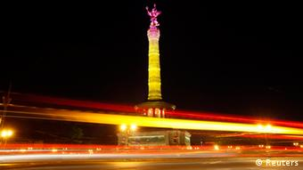 Berlin's Victory Column during the Festival of Lights 2012