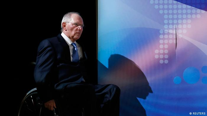 Germany's Finance Minister Wolfgang Schaeuble goes onto a stage REUTERS/Kim Kyung-Hoon (JAPAN - Tags: BUSINESS POLITICS)