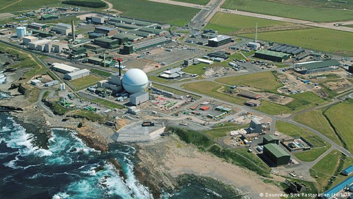 Dounreay reactor photographed from the air (Copyright : Dounreay Site Restoration Limited)