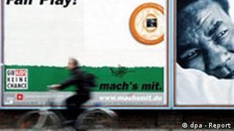 Werbeplakat für Kondome