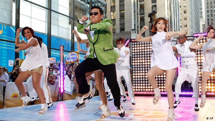 South Korean rapper Psy performs his massive K-pop hit Gangnam Style live on NBC's Today show (Photo by Jason DeCrow/Invision/AP Images)