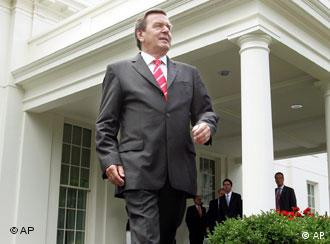 Cancelarul Schröder la Washington