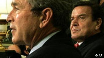 Gerhard Schröder bei George Bush in Washington