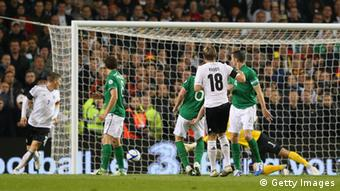 Toni Kroos of Germany scores the fifth goal