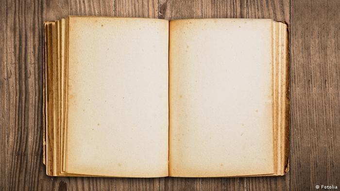 Leeres altes Buch