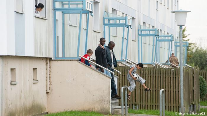 An apartment that became a home for asylum-seekers in Wolgast (Photo: Stefan Sauer)