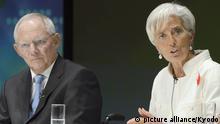 Ο Β. Σόιμπλε και η γενική διευθύντρια του ΔΝΤ Κριστίν Λαγκάρντ