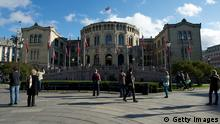 OSLO, NORWAY - OCTOBER 02: A general exterior view of Stortinget, the Norwegian parliament on the opening of the 157th Storting on October 2, 2012 in Oslo, Norway. (Photo by Ragnar Singsaas/Getty Images)