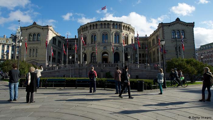 Stortinget Parlamentsgebäude in Oslo Norwegen