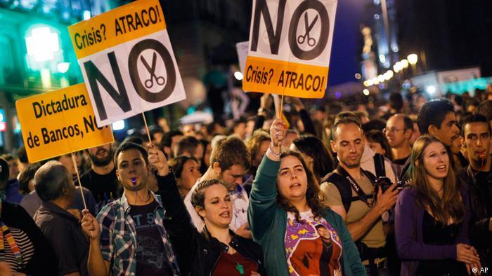 Протесты в Испании против мер экономии
