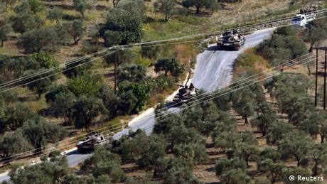Grenzkonflikt Syrien Türkei Panzer