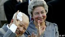 Cambodia's King Norodom Sihanouk and Queen Monineath