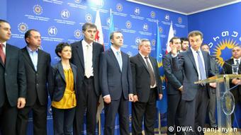 Члены правительства Грузии при его представлении в октябре 2012 года