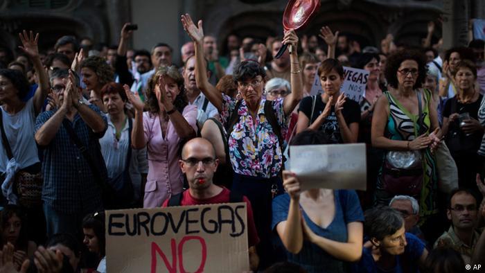 Spanien Proteste gegen Bau von Eurovegas