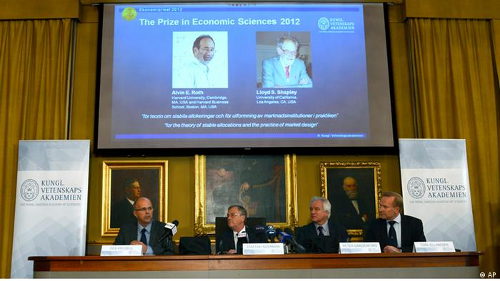 Swedish Royal Academy of Sciences present the winners of the Nobel Memorial Prize in Economic Sciences