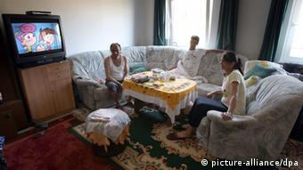 The Ibrahimovic family from Serbia in the asylum seekers' home in Bad Doberan, Mecklenburg West Pomerania.