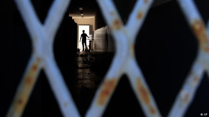 Libyen Graffiti Regierung Gefängnis