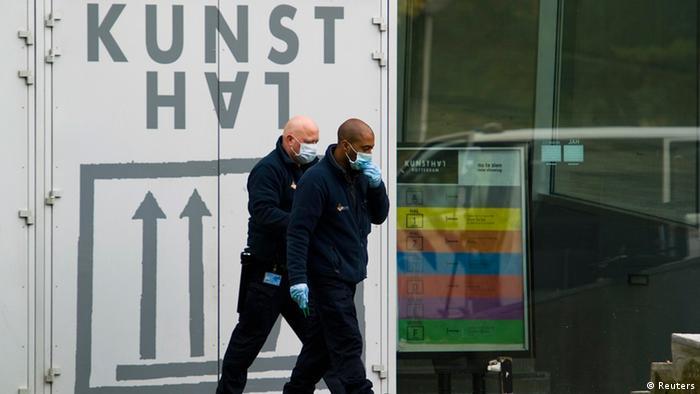 Полиция обследует место преступления в Роттердамском музее