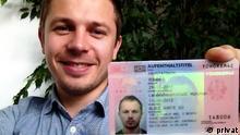 Deutschland Aufenthaltstitel für Roman Prystackij Blaue Karte