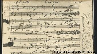 The priginal manuscript for Beethoven's String Quartet in F major (1826)
