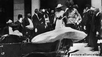 La pareja heredera del trono austro-húngaro, poco antes del Atentado de Sarajevo.