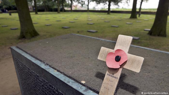 Military cemetery in Langemark