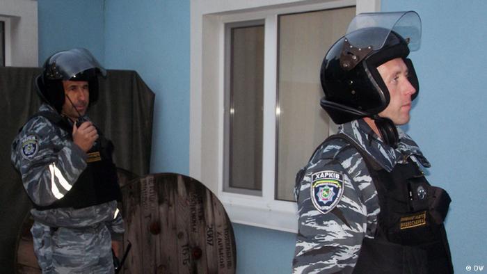 Сотрудники харьковской службы частной охраны