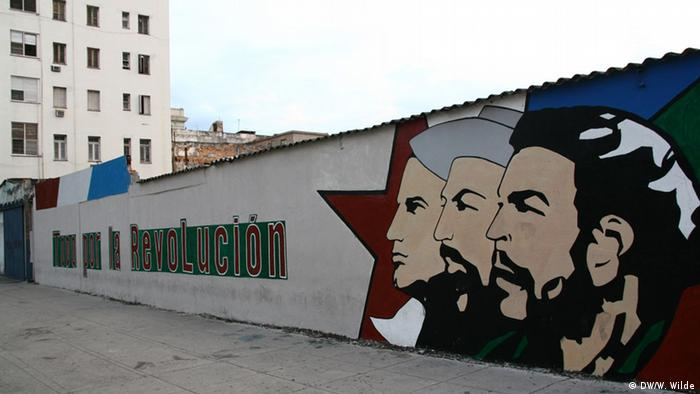 Graffiti in the Cuban capital Havana depicting the heroes of the 1958-9 revolution (Photo: Wulf Wilde/DW)