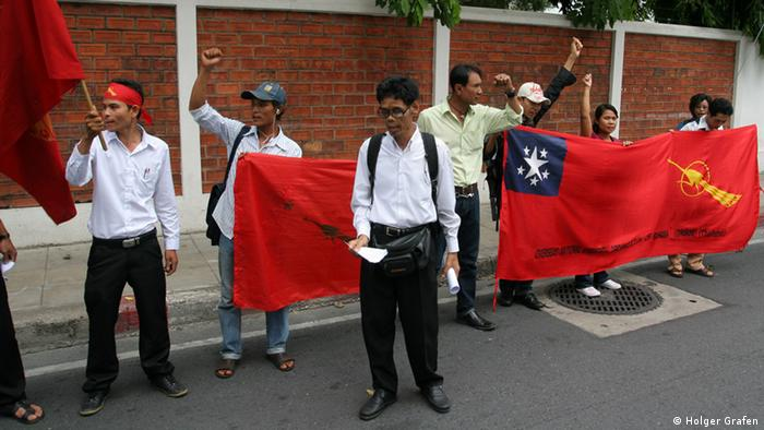 A demonstration by the Kachin in Bangkok(Photo: Nicola Glass)