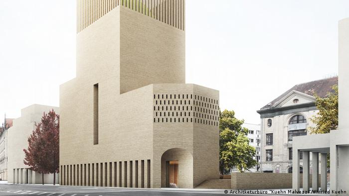 The proposed design for the Petriplatz House of Prayer and Learning by the architects Kuehn Malvezzi.