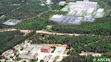 ** FILE ** This undated image released by the Nuclear Energy Center (CEN) of Cadarache near Aix-en-Provence, southern France, shows the current installations, foreground left, right, and a computer rendition of the future nuclear fusion plant at right. French President Jacques Chirac announced Tuesday, June 28, 2005, that a six-party consortium chose Cadarache as the site for the experimental nuclear fusion reactor, opening the way for development of a potential source of clean, inexhaustible energy. (AP Photo/CEN Cadarache)