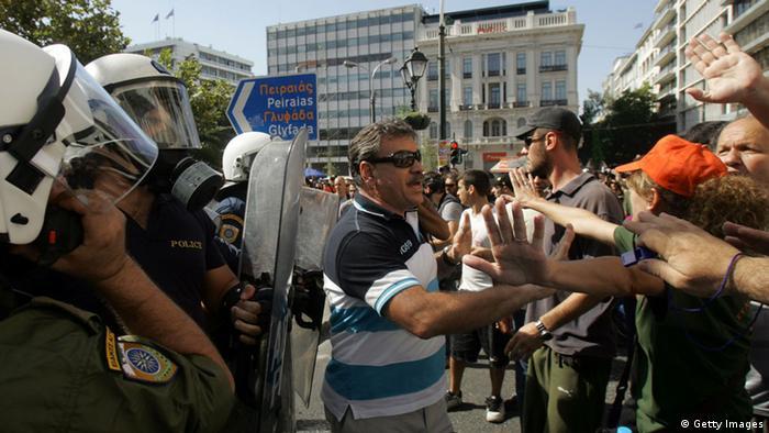 Athen: Demonstration gegen Sparmaßnahmen während des Generalstreiks (Photo Milos Bicanski/Getty Images)