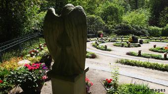 A park with an angel statue. (Photo: Joern Pollex/Bongarts/Getty Images)