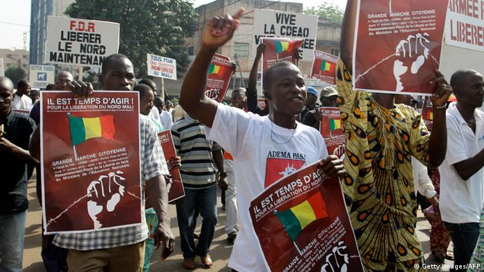 Demonstration in Bamako (Foto: Getty Images)