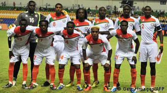 The Niger team pose for a photograph ahead of their African Cup of Nations (CAN 2012) group C football match against Morocco at the stade de l'amitie in Libreville on January 31, 2012. AFP PHOTO / ISSOUF SANOGO (Photo credit should read ISSOUF SANOGO/AFP/Getty Images)