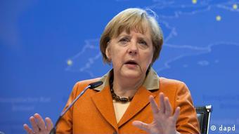 Angela Merkel in Brüssel (Foto: dapd)