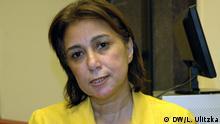 Interview mit Gründungmitglied der al Dostur Partei Hala Shukrallah. Wer hat das Bild gemacht?: Liza Ulitzka Wann wurde das Bild gemacht?: Oktober 2012 Wo wurde das Bild aufgenommen?: Kairo